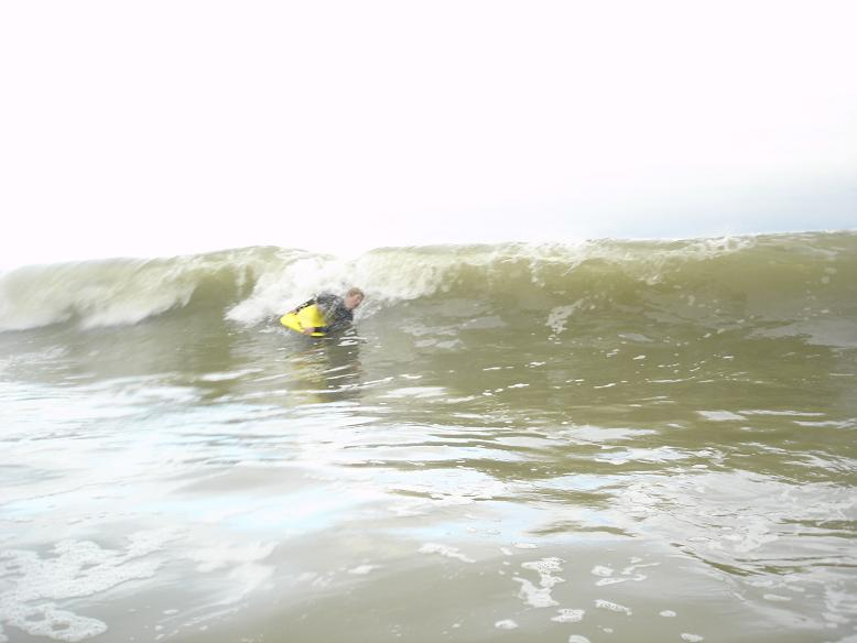 little man on little wave !